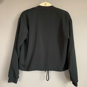 Who What Wear Jackets & Coats - Who What Wear Crepe Black Bomber Jacket